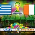 Greece vs Cote D'ivoire