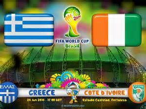 Greece Vs Cote d'Ivoire Critics – Match Played on 6/24/2014