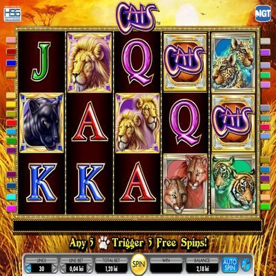 Cats Slot Machine - Play the Cats Slot Game by IGT for Free