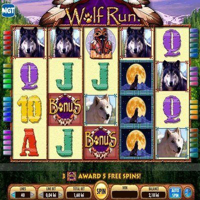 free wolf run slot machine
