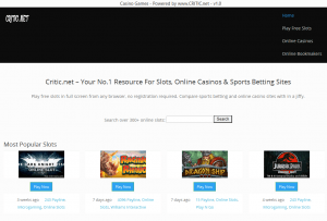 Play Free Online Slots with the Critic.net Software
