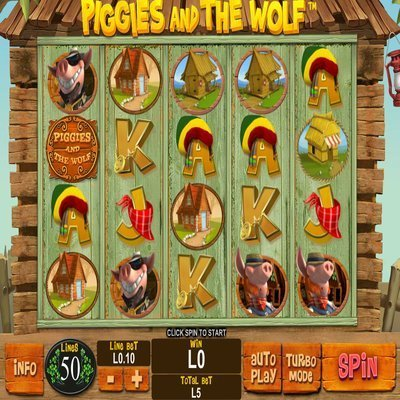 Piggies and the Wolf™ Slot Machine Game to Play Free in Playtechs Online Casinos