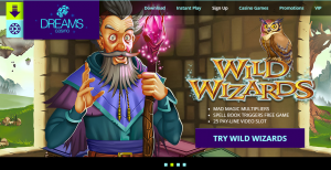 Play Wild Wizards at Dreams Casino