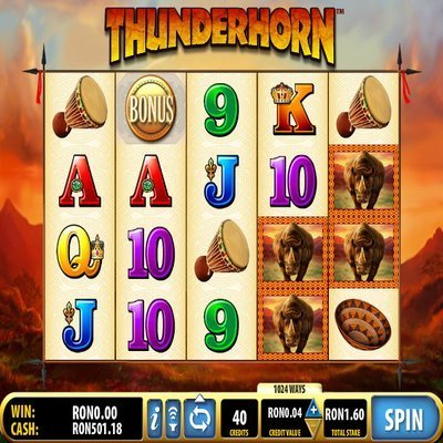 thunderhorn slot machine